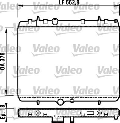 Radiateur, refroidissement du moteur - VALEO - 732896