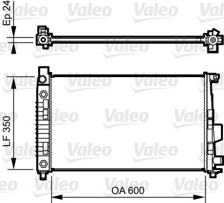 Radiateur, refroidissement du moteur - VALEO - 732897