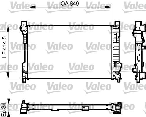 Radiateur, refroidissement du moteur - VALEO - 732900