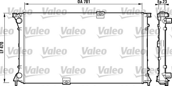 Radiateur, refroidissement du moteur - VALEO - 732902