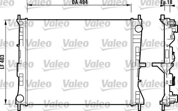Radiateur, refroidissement du moteur - VALEO - 732903