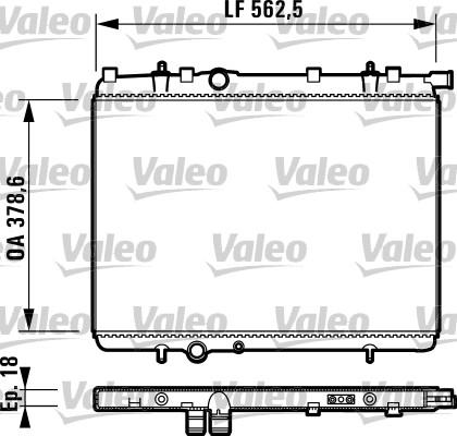 Radiateur, refroidissement du moteur - VALEO - 732904