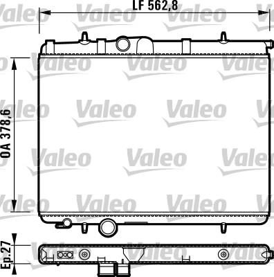 Radiateur, refroidissement du moteur - VALEO - 732906