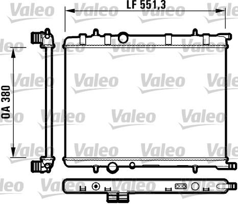 Radiateur, refroidissement du moteur - VALEO - 732908