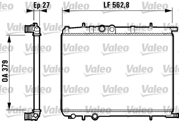 Radiateur, refroidissement du moteur - VALEO - 732909