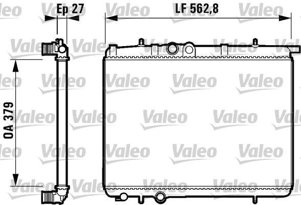 Radiateur, refroidissement du moteur - VALEO - 732910