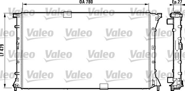 Radiateur, refroidissement du moteur - VALEO - 732911