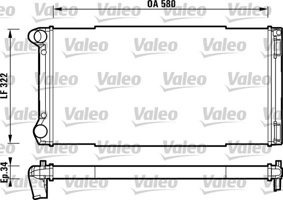 Radiateur, refroidissement du moteur - VALEO - 732913