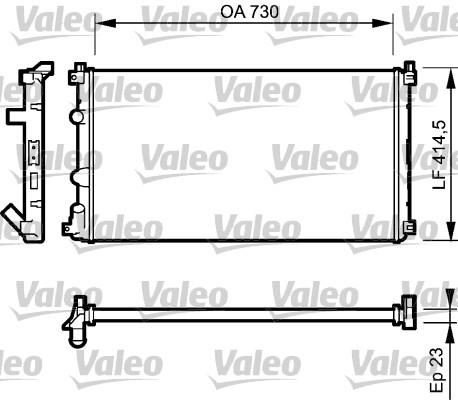 Radiateur, refroidissement du moteur - VALEO - 732917