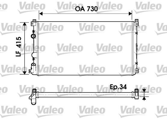Radiateur, refroidissement du moteur - VALEO - 732918
