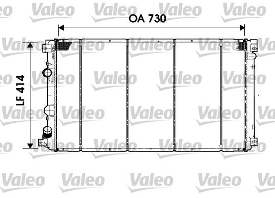 Radiateur, refroidissement du moteur - VALEO - 732919