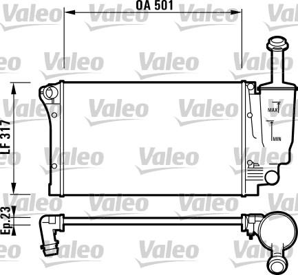 Radiateur, refroidissement du moteur - VALEO - 732924