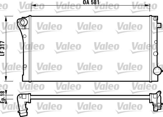 Radiateur, refroidissement du moteur - VALEO - 732925