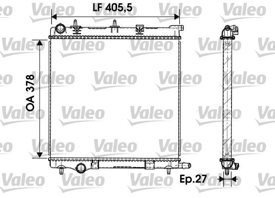 Radiateur, refroidissement du moteur - VALEO - 732930