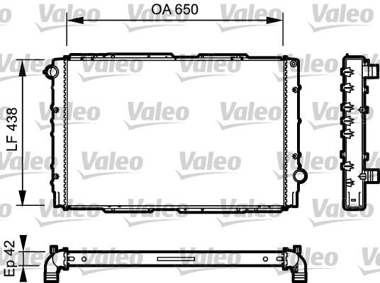 Radiateur, refroidissement du moteur - VALEO - 732939
