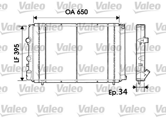 Radiateur, refroidissement du moteur - VALEO - 732940