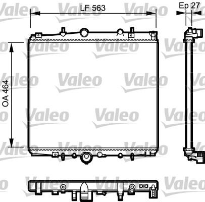 Radiateur, refroidissement du moteur - VALEO - 732944