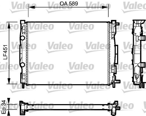 Radiateur, refroidissement du moteur - VALEO - 732946