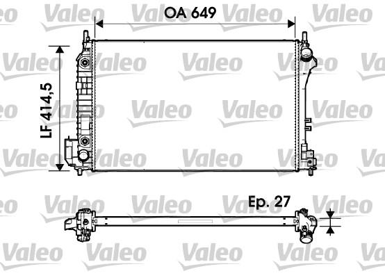 Radiateur, refroidissement du moteur - VALEO - 732947