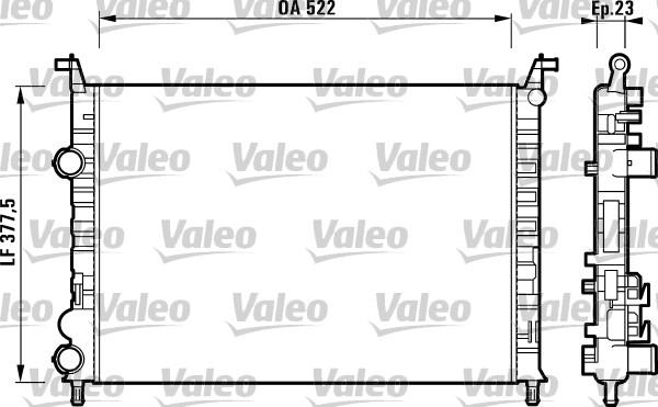 Radiateur, refroidissement du moteur - VALEO - 732948