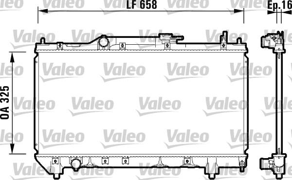 Radiateur, refroidissement du moteur - VALEO - 732950