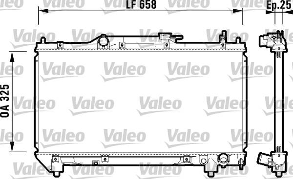 Radiateur, refroidissement du moteur - VALEO - 732951