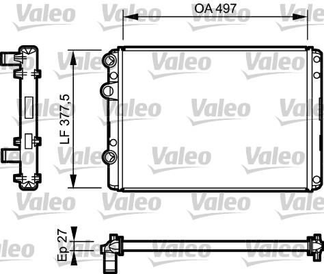 Radiateur, refroidissement du moteur - VALEO - 732953
