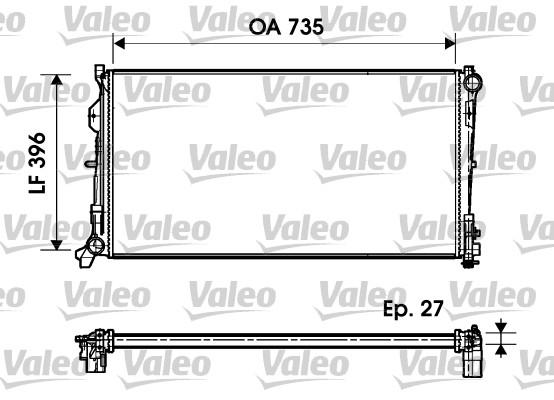 Radiateur, refroidissement du moteur - VALEO - 732956