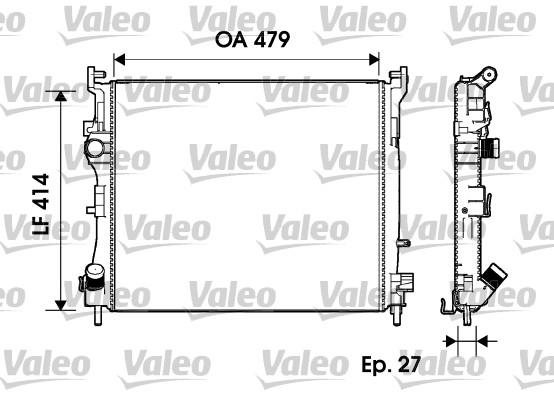 Radiateur, refroidissement du moteur - VALEO - 732960