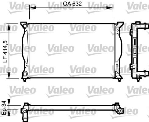 Radiateur, refroidissement du moteur - VALEO - 732963