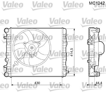 Radiateur, refroidissement du moteur - VALEO - 733062