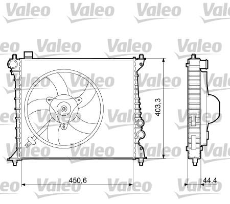Radiateur, refroidissement du moteur - VALEO - 733074