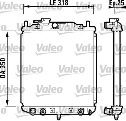 Radiateur, refroidissement du moteur - VALEO - 734101