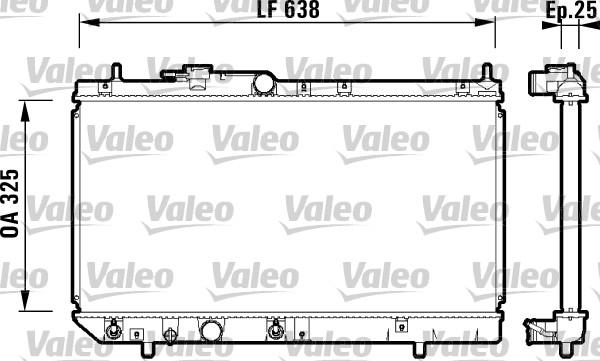 Radiateur, refroidissement du moteur - VALEO - 734102