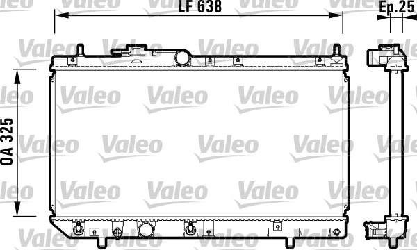 Radiateur, refroidissement du moteur - VALEO - 734103