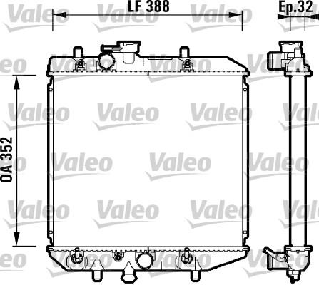 Radiateur, refroidissement du moteur - VALEO - 734104