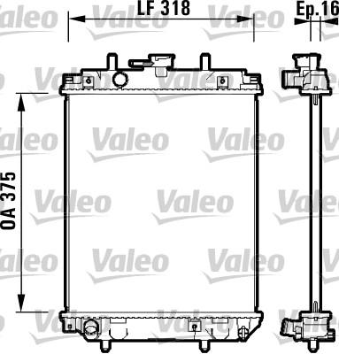 Radiateur, refroidissement du moteur - VALEO - 734105