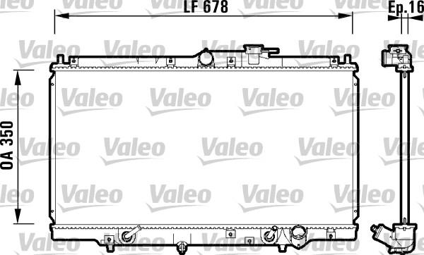 Radiateur, refroidissement du moteur - VALEO - 734109