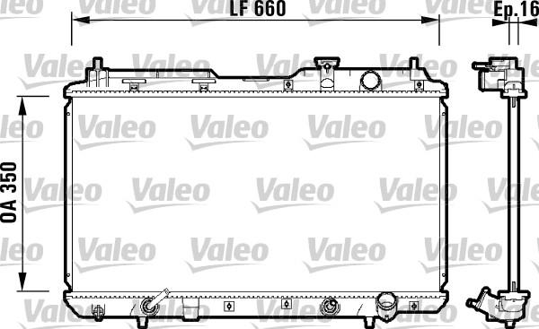 Radiateur, refroidissement du moteur - VALEO - 734110