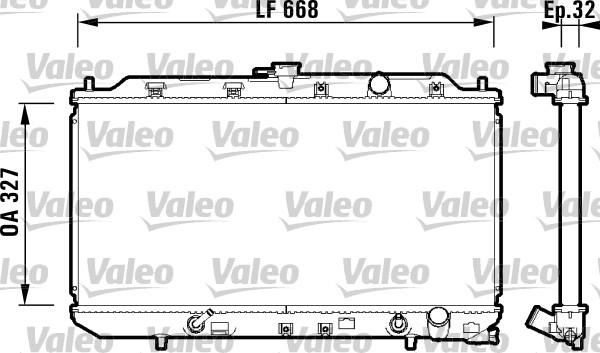 Radiateur, refroidissement du moteur - VALEO - 734111