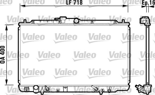 Radiateur, refroidissement du moteur - VALEO - 734113