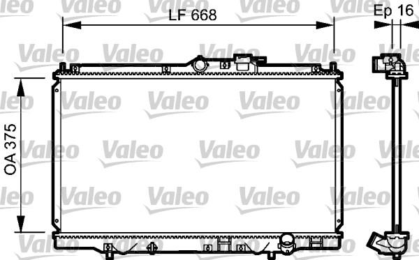 Radiateur, refroidissement du moteur - VALEO - 734114