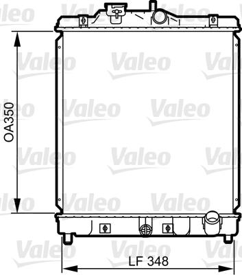 Radiateur, refroidissement du moteur - VALEO - 734117