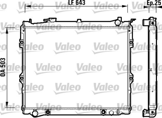 Radiateur, refroidissement du moteur - VALEO - 734118
