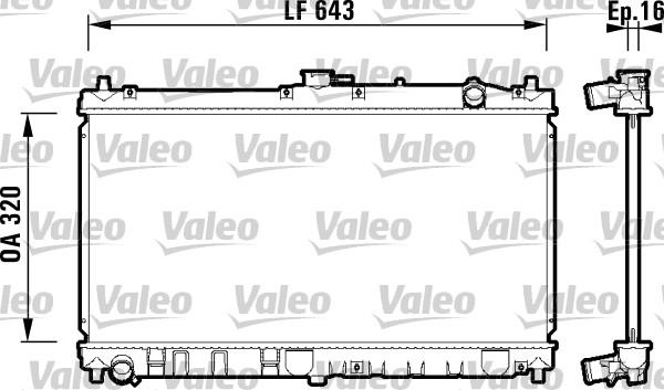 Radiateur, refroidissement du moteur - VALEO - 734119