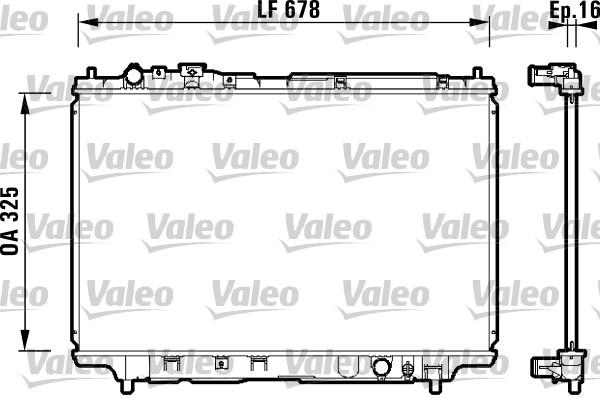 Radiateur, refroidissement du moteur - VALEO - 734120