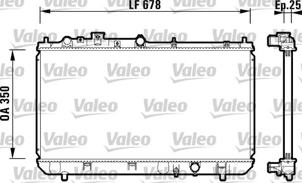 Radiateur, refroidissement du moteur - VALEO - 734122