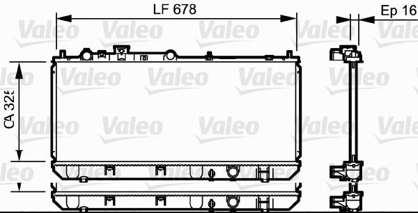 Radiateur, refroidissement du moteur - VALEO - 734123