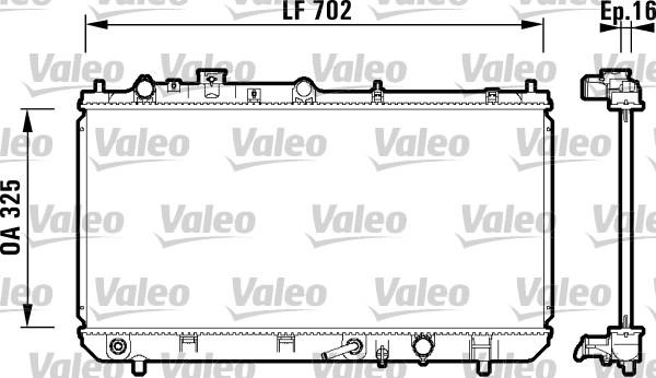 Radiateur, refroidissement du moteur - VALEO - 734124