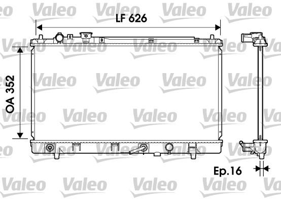 Radiateur, refroidissement du moteur - VALEO - 734126